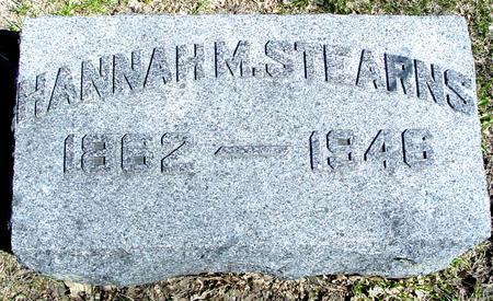 STEARNS, HANNAH M. - Sac County, Iowa | HANNAH M. STEARNS