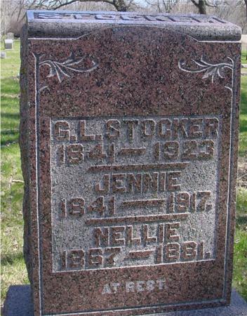 STOCKER, G. L., JENNIE, NELLIE - Sac County, Iowa | G. L., JENNIE, NELLIE STOCKER