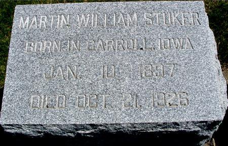 STUKER, MARTIN WILLIAM - Sac County, Iowa | MARTIN WILLIAM STUKER
