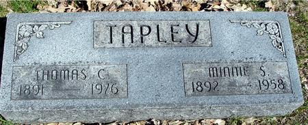 TAPLEY, THOMAS & MINNIE - Sac County, Iowa | THOMAS & MINNIE TAPLEY