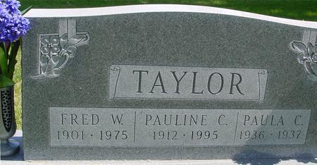 TAYLOR, FRED & PAULINE C. - Sac County, Iowa   FRED & PAULINE C. TAYLOR