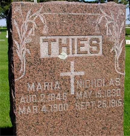 THIES, NICHOLAS & MARIA - Sac County, Iowa   NICHOLAS & MARIA THIES