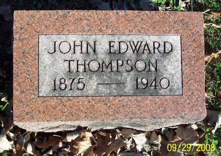 THOMPSON, JOHN EDWARD - Sac County, Iowa | JOHN EDWARD THOMPSON