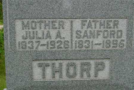 THORP, SANFORD & JULIA A. - Sac County, Iowa   SANFORD & JULIA A. THORP