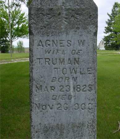 TOWLE, AGNES W. - Sac County, Iowa | AGNES W. TOWLE