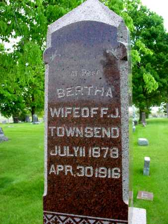 TOWNSEND, BERTHA - Sac County, Iowa | BERTHA TOWNSEND