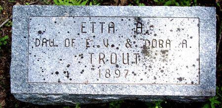 TROUT, ETTA A - Sac County, Iowa | ETTA A TROUT