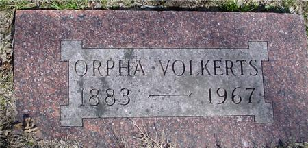 VOLKERTS, ORPHA - Sac County, Iowa | ORPHA VOLKERTS