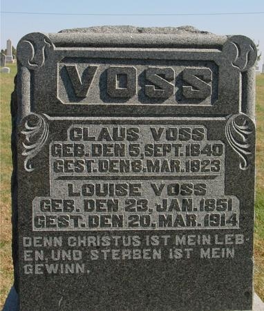 VOSS, CLAUS & LOUISE - Sac County, Iowa | CLAUS & LOUISE VOSS