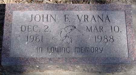VRANA, JOHN F. - Sac County, Iowa | JOHN F. VRANA
