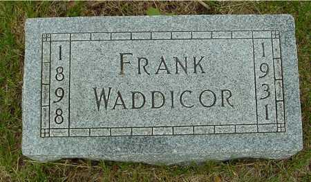 WADDICOR, FRANK - Sac County, Iowa   FRANK WADDICOR