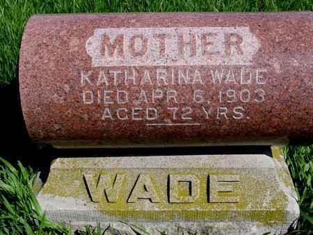 WADE, KATHARINA - Sac County, Iowa | KATHARINA WADE