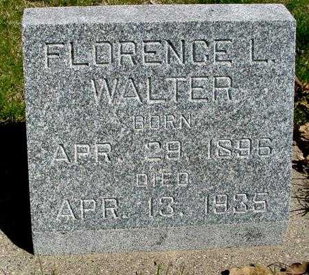 WALTER, FLORENCE L. - Sac County, Iowa   FLORENCE L. WALTER