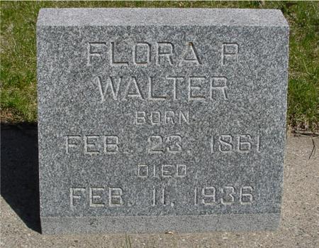 WALTER, FLORA P. - Sac County, Iowa   FLORA P. WALTER