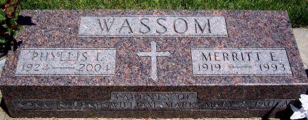 WASSOM, PLYLLIS L - Sac County, Iowa   PLYLLIS L WASSOM