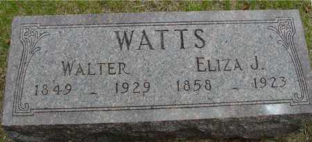 WATTS, WALTER & ELIZA J. - Sac County, Iowa | WALTER & ELIZA J. WATTS