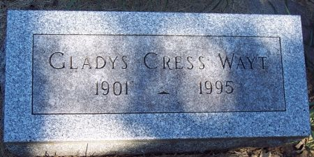 CRESS WAYT, GLADYS - Sac County, Iowa | GLADYS CRESS WAYT