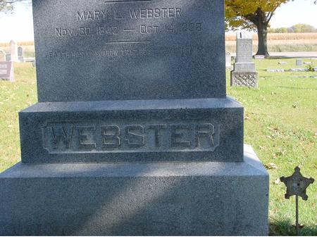 WEBSTER, MARY L. - Sac County, Iowa | MARY L. WEBSTER