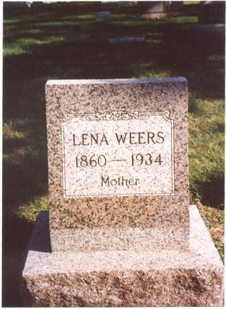 WEERS, LENA - Sac County, Iowa | LENA WEERS