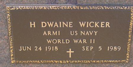 WICKER, H. DWAINE - Sac County, Iowa | H. DWAINE WICKER