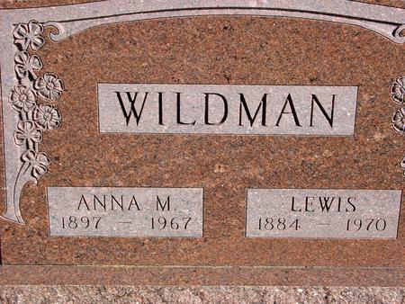 WILDMAN, LEWIS & ANNA - Sac County, Iowa   LEWIS & ANNA WILDMAN
