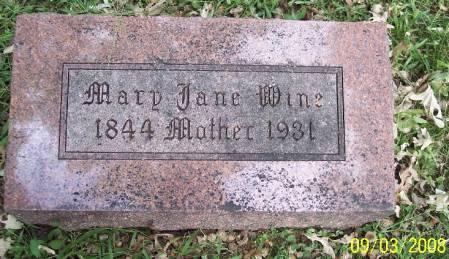 WINE, MARY JANE - Sac County, Iowa | MARY JANE WINE