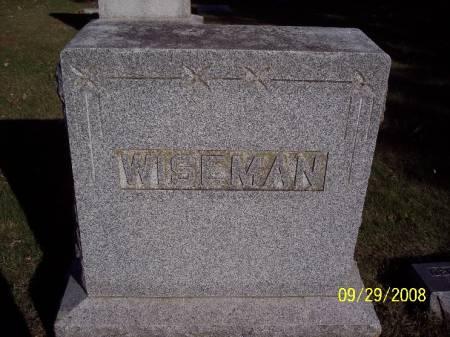 WISEMAN, MONUMENT - Sac County, Iowa   MONUMENT WISEMAN