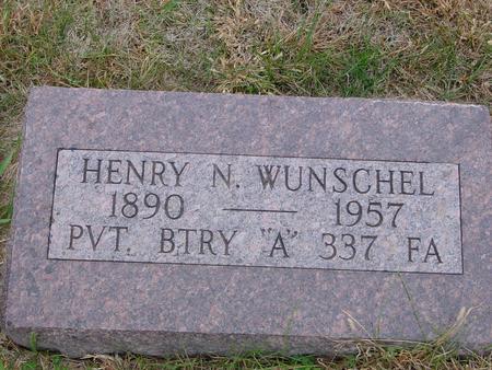 WUNSCHEL, HENRY N. - Sac County, Iowa   HENRY N. WUNSCHEL