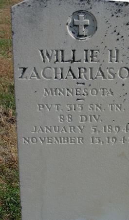 ZACHARIASON, WILLIE H. - Sac County, Iowa | WILLIE H. ZACHARIASON