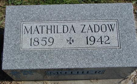ZADOW, MATHILDA - Sac County, Iowa | MATHILDA ZADOW