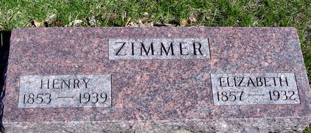 ZIMMER, HENRY & ELIZABETH - Sac County, Iowa   HENRY & ELIZABETH ZIMMER