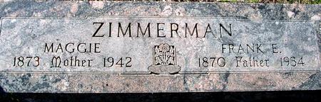 ZIMMERMAN, FRANK E. & MAGGIE - Sac County, Iowa | FRANK E. & MAGGIE ZIMMERMAN