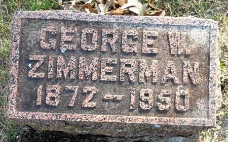 ZIMMERMAN, GEORGE W - Sac County, Iowa | GEORGE W ZIMMERMAN