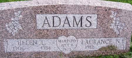 ADAMS, LAURANCE NEWTON - Scott County, Iowa | LAURANCE NEWTON ADAMS