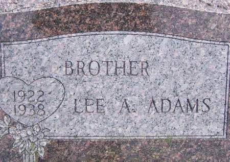 ADAMS, LEE A - Scott County, Iowa | LEE A ADAMS