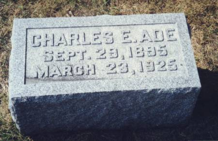ADE, CHARLES E - Scott County, Iowa | CHARLES E ADE