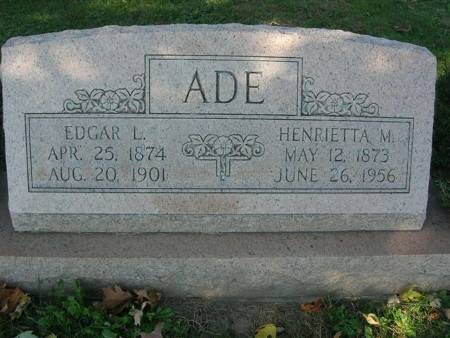 ADE, EDGAR L. - Scott County, Iowa | EDGAR L. ADE