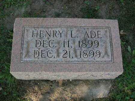 ADE, HENRY L. - Scott County, Iowa | HENRY L. ADE