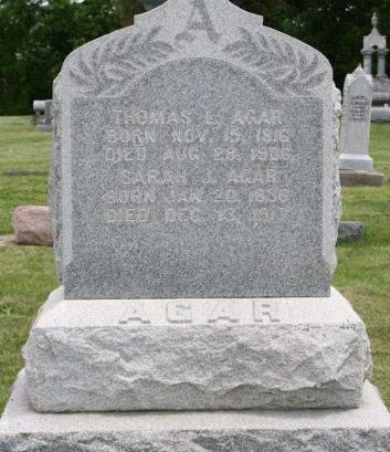 ROWAN AGAR, SARAH J. - Scott County, Iowa | SARAH J. ROWAN AGAR
