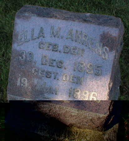 AHRENS, ELLA M. - Scott County, Iowa | ELLA M. AHRENS