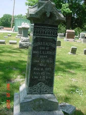 ALFORD, ELISHA D - Scott County, Iowa | ELISHA D ALFORD