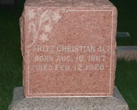 ALT, FRITZ CHRISTIAN - Scott County, Iowa | FRITZ CHRISTIAN ALT