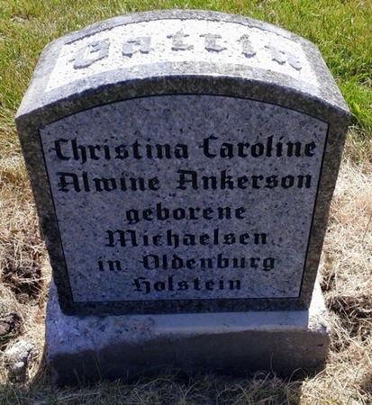 ANKERSON, CHRISTINA CAROLINE ALWINE - Scott County, Iowa | CHRISTINA CAROLINE ALWINE ANKERSON
