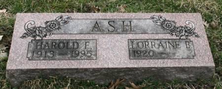 ASH, HAROLD F. - Scott County, Iowa | HAROLD F. ASH