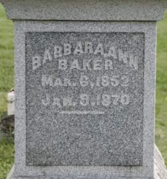 BAKER, BARBARA ANN - Scott County, Iowa | BARBARA ANN BAKER