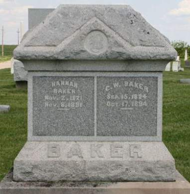 BAKER, G. W. - Scott County, Iowa | G. W. BAKER