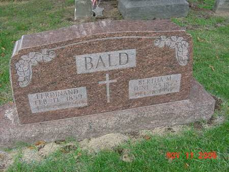 BALD, FERDINAND - Scott County, Iowa | FERDINAND BALD