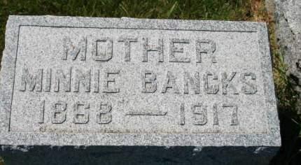 BANCKS, MINNIE - Scott County, Iowa   MINNIE BANCKS