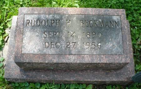 BECKMANN, RUDOLPH H. - Scott County, Iowa   RUDOLPH H. BECKMANN