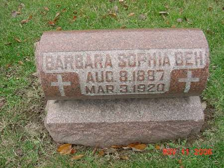 BEH, BARBARA SOPHIA - Scott County, Iowa | BARBARA SOPHIA BEH
